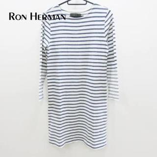 ロンハーマン(Ron Herman)のロンハーマン ワンピース サイズXS レディース 白×ネイビー(ひざ丈ワンピース)