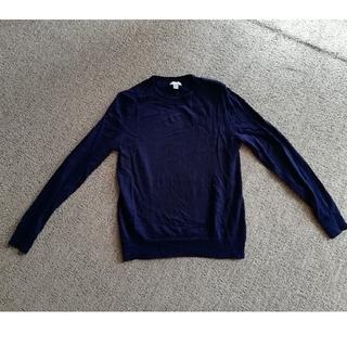 GAP - エクストラ メリノ ウール100%  ネイビー クルーネック セーター