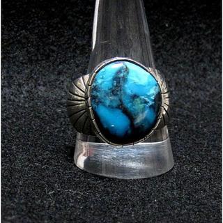 新品」ナバホ族・1990年代輸入・Navajo・B.P.製作・送料込(リング(指輪))