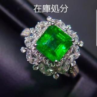 特価♡天然エメラルドダイヤモンドリング(リング(指輪))