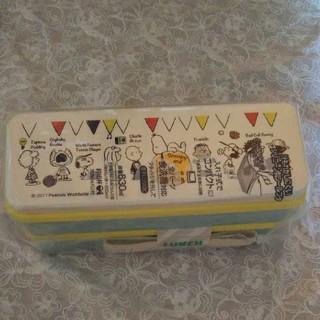 スヌーピー(SNOOPY)の新品スヌーピー♪シールふた付き2段お弁当箱630ml  ランチボックス日本製(弁当用品)