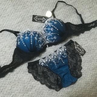 送料無料 ☆ spark's パリシェ ☆ D70 ブラ&ショーツ 花柄 刺繍(ブラ&ショーツセット)
