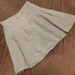 マジェスティックレゴン(MAJESTIC LEGON)のマジェ・ウエストリボン風ストライプスカートパンツ(キュロット)