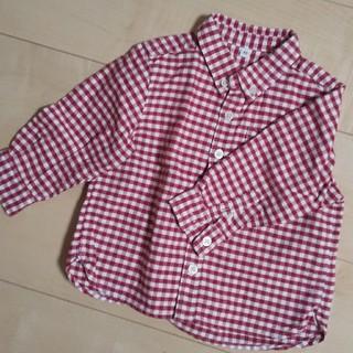ムジルシリョウヒン(MUJI (無印良品))の90 赤チェック シャツ(ブラウス)