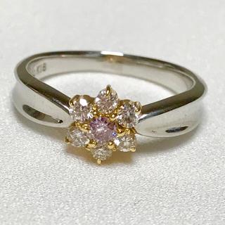 未使用✨PT/18K ピンクダイヤモンドリング(リング(指輪))