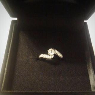 豪華なCZダイヤモンドリング(リング(指輪))