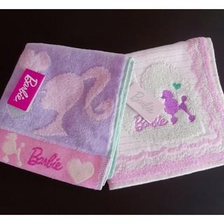 Barbie - 【新品】Barbie バービー タオルハンカチ2枚 プードル 女の子 ハイヒール