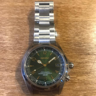 セイコー(SEIKO)のアクア様専用 セイコー腕時計 アルピニスト SARB017 中古 純正革ベルト付(腕時計(アナログ))
