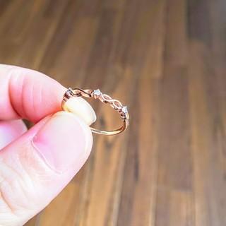 ジュエリーツツミ(JEWELRY TSUTSUMI)の【JEWELRY TSUTSUMI】イエローゴールドダイヤモンドピンキーリング(リング(指輪))