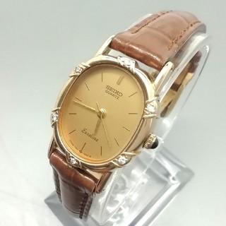 セイコー(SEIKO)のセイコー エクセリーヌ 10KTケース 6P ダイヤ クォーツ レディース腕時計(腕時計)