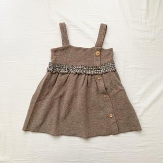 ザラキッズ(ZARA KIDS)のzara baby ウールジャンパースカート(ワンピース)