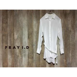 フレイアイディー(FRAY I.D)のフレイアイディー 腰ベルト付き ロングシャツ ブラウス レーヨン100% 日本製(シャツ/ブラウス(長袖/七分))