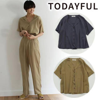TODAYFUL - TODAYFUL Collarless Rough Shirts  シャツ