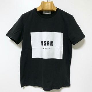 エムエスジイエム(MSGM)のMSGM ロゴプリントTシャツ/Mサイズ(ブラック)(Tシャツ(半袖/袖なし))