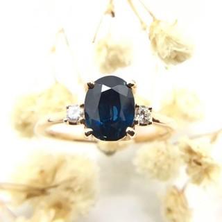 トクトクジュエリー メイジュエリー サファイア ダイヤモンド K18 リング(リング(指輪))