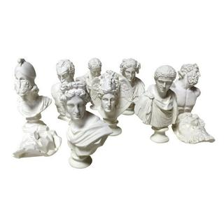 石膏像風 ミニチュア 美術 芸術 アート デッサン インテリア 10個 セット (彫刻/オブジェ)