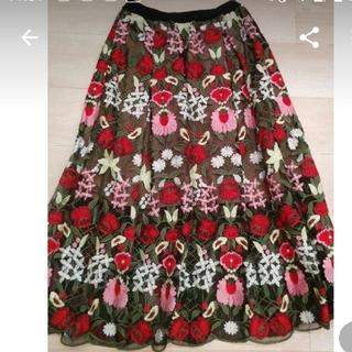 チェスティ(Chesty)の刺繍スカート (ひざ丈スカート)