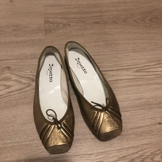 レペット(repetto)のレペット フラット靴 ゴールド38 パリで購入(バレエシューズ)