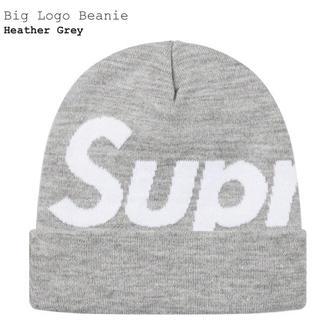 シュプリーム(Supreme)のSupreme Big logo beanie heather gray (ニット帽/ビーニー)