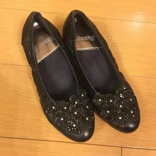 ブラック ヒール革靴 (ハイヒール/パンプス)
