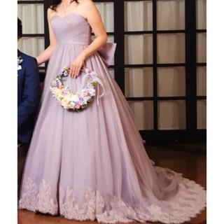 ウェディングドレス カラードレス  パープル 紫 ラベンダー 11〜15号(ウェディングドレス)