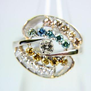 Pt900 ダイヤモンド リング 8.5号[f66-9](リング(指輪))