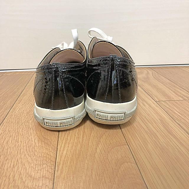 miumiu(ミュウミュウ)の大幅値下げ★miumiu エナメルスニーカー レディースの靴/シューズ(スニーカー)の商品写真