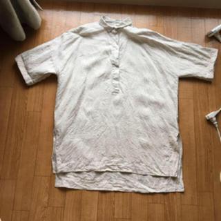ムジルシリョウヒン(MUJI (無印良品))の無印良品レディース半袖シャツ麻100%値下げ不可⚠️着払いのみ⚠️(シャツ/ブラウス(半袖/袖なし))