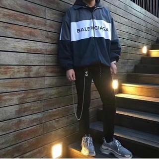 Balenciaga - BALENCIAGA バレンシアガ トラックジャケット グレー ネイビー