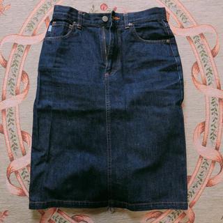 ミッシェルクラン(MICHEL KLEIN)のMK デニムスカート(ひざ丈スカート)