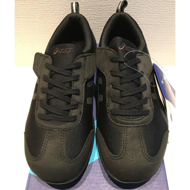 asics(アシックス)の新品 アシックス ウォーキングシューズ ライフウォーカー 黒 スニーカー レディースの靴/シューズ(スニーカー)の商品写真
