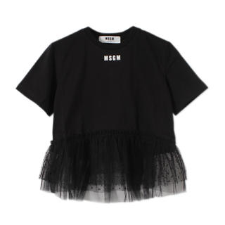 エムエスジイエム(MSGM)の【MSGM】裾チュールTシャツ(Tシャツ(半袖/袖なし))