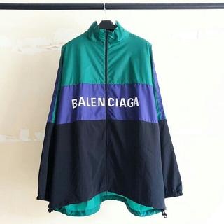 バレンシアガ(Balenciaga)のBALENCIAGA バレンシアガ トラックジャケット 緑/ブラック(ナイロンジャケット)