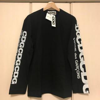 コムデギャルソン(COMME des GARCONS)のコムデギャルソン エアラインロゴ ロングスリーブ 黒 新品未使用タグ付き(Tシャツ/カットソー(七分/長袖))