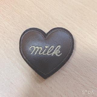 ミルク(MILK)のMILK♪ハートバレッタ(茶)(バレッタ/ヘアクリップ)