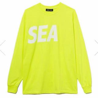 ロンハーマン(Ron Herman)のWIND AND SEA LONG ロンT ロングTシャツ イエロー XL(Tシャツ/カットソー(七分/長袖))