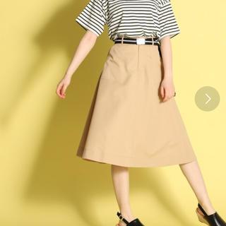 ハニーズ(HONEYS)のベルト付きステッチスカート(ひざ丈スカート)