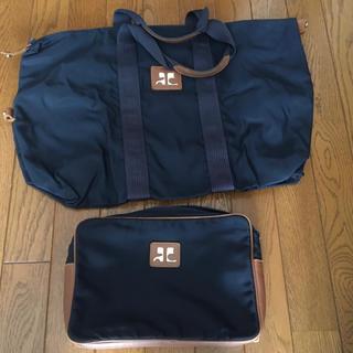 クレージュ(Courreges)のuk5snow様専用!!  クレージュのスポーツバッグとポーチのセット(ボストンバッグ)