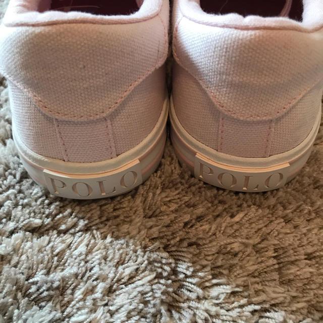 POLO RALPH LAUREN(ポロラルフローレン)の【新品未使用】ポロラルフローレン スニーカー レディース ピンク 24cm レディースの靴/シューズ(スニーカー)の商品写真