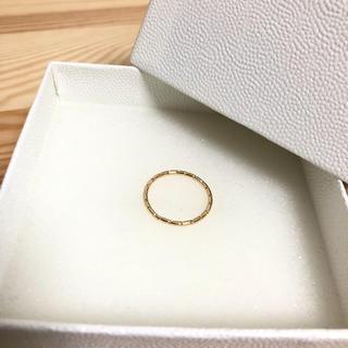 ユナイテッドアローズ(UNITED ARROWS)の特別sale UNITED ARROWS 新品未使用 ゴールドカットリング(リング(指輪))