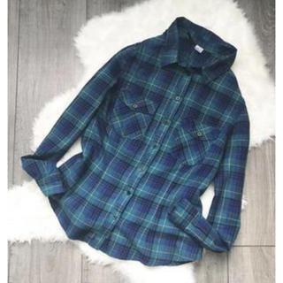H&M - H&M チェック シャツ アーバンアウトフィッターズ 紺 緑 アメリカンイーグル