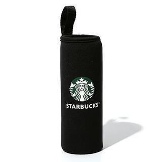 スターバックスコーヒー(Starbucks Coffee)のFUKU☆ FUKU様 スターバックス 500ml ペットボトルカバー 1個 黒(収納/キッチン雑貨)