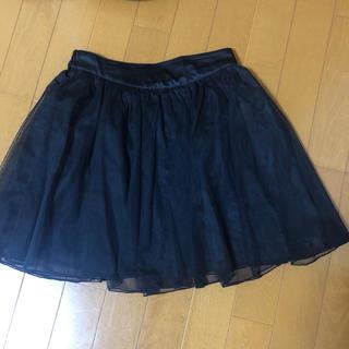パニエ風  チュールスカート プリーツスカート フレアスカート