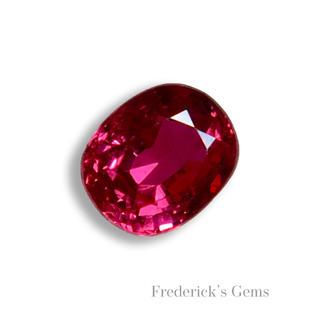 深く妖艶な紅色 0.3ct UP モゴック産 天然 ルビー ルース(リング(指輪))