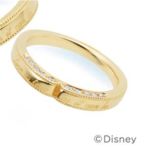 ヨンドシー(4℃)の【4°C BRIDAL】Disney★美女と野獣★k18 ダイヤ【8号】(リング(指輪))