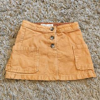 ザラキッズ(ZARA KIDS)のZARA KID'S コーデュロイ ミニスカート ブラウン 中古美品 110cm(スカート)