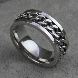 特価!シルバーチェーンのステンレスリング 12、13号(リング(指輪))