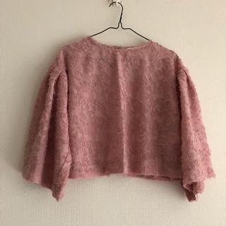 サマンサモスモス(SM2)のピンクの肩落ちカットソー(カットソー(長袖/七分))