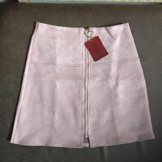 新品 秋カラー🍁🍂 スウェード調 ミニスカート ピンク