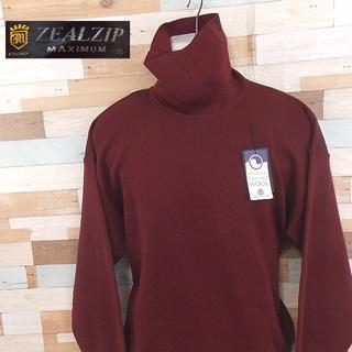【ZEALZIP】 美品 タグ付き ジールジップ ハイネックウールウェア 2L(ニット/セーター)